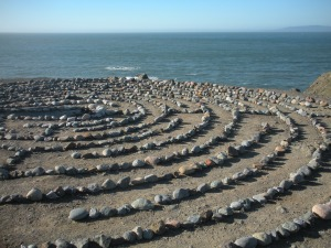 labyrinth by the ocean
