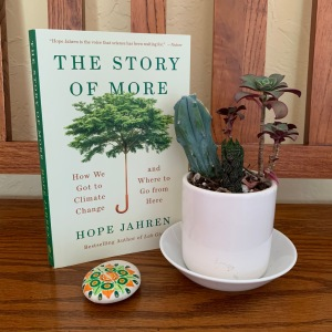 Photo of the book The Story of More next to a cactus